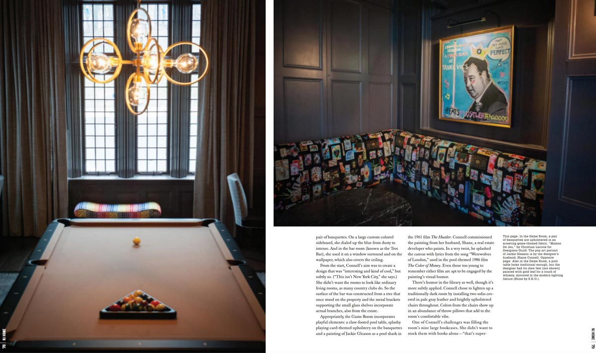 pool table & game room nj home magazine interior design