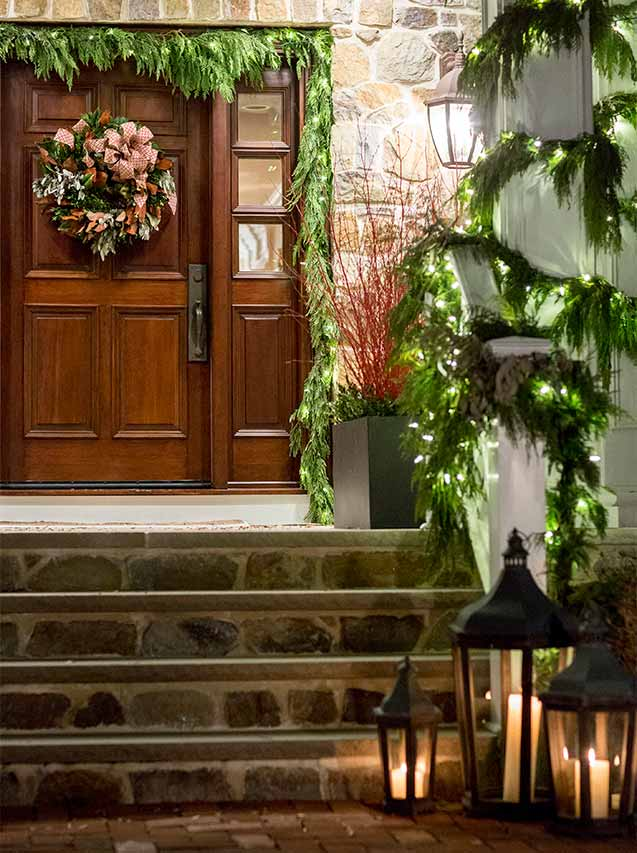 preparing your home for the holidays entrance