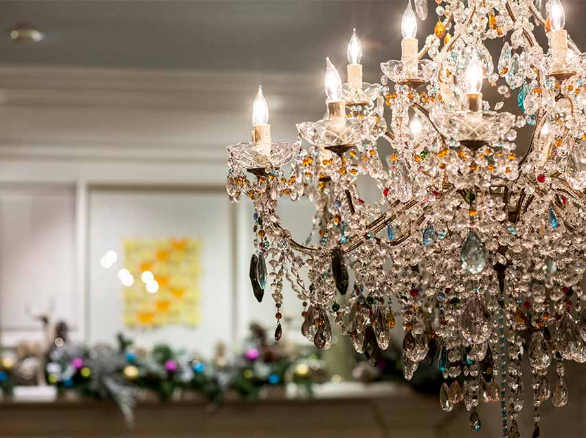 preparing your home holidays chandelier