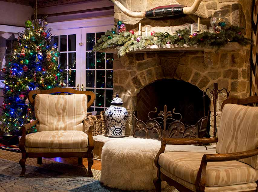 preparing your home holidays christmas tree fireplace