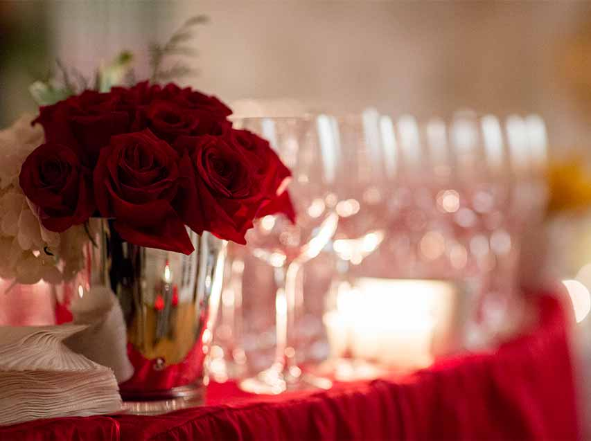preparing your home holidays red roses candles