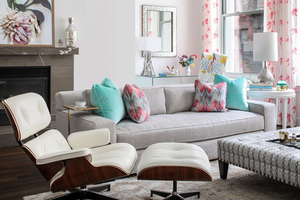 SoHo NYC Living Room Interior Design Couch Chair