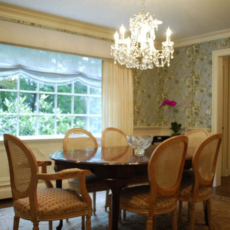 Formal Dining Room Window Treatments: Jennifer Connell Design