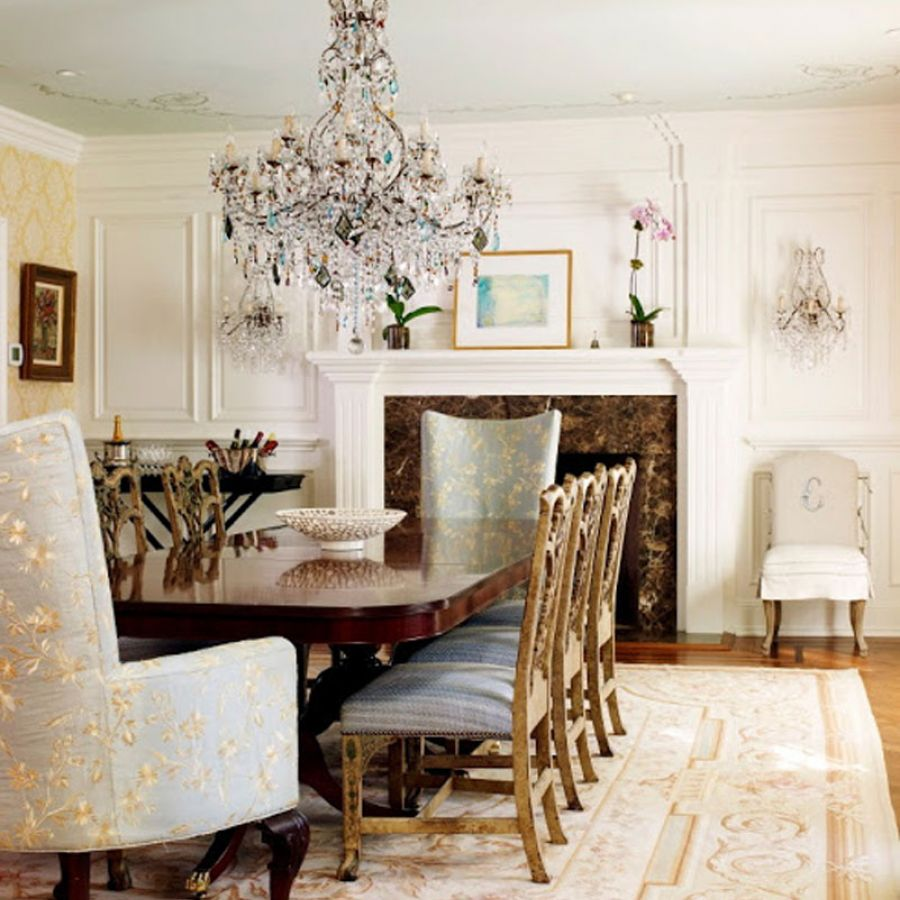 dining-room-chandelier-table-fireplace-chairs